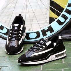 Preppy Boys - Panel Lace-Up Sneakers
