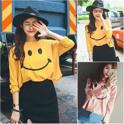Whitney's Shop - Smile Face Pullover
