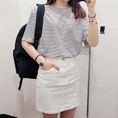 Dute - Short-Sleeve Striped T-Shirt