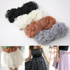 QZ Lady - Elasticized Rosette Belt