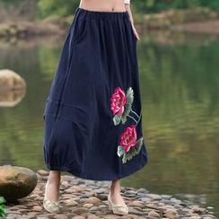 Salisha - Embroidered Maxi Skirt