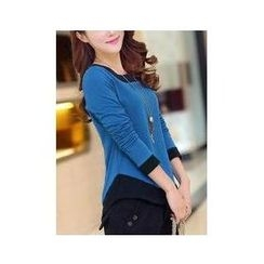 Sienne - Two-Tone Long-Sleeve T-Shirt