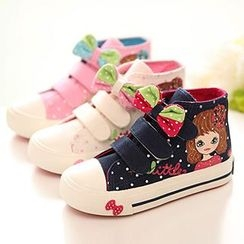 Luco - Kids Dotted Canvas Sneakers