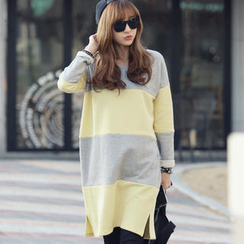 REDOPIN - Color-Block Pullover Dress