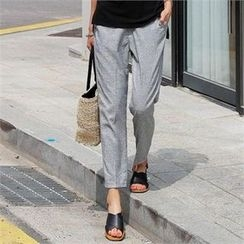 CHICFOX - Banded-Waist Pants