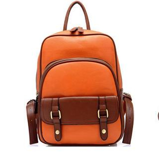 TAIPEI STAR - Buckled Faux-Leather Backpack