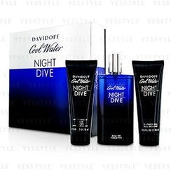 Davidoff - Cool Water Night Dive Coffret: Eau De Toilette Spray 125ml/4.2oz + After Shave Balm 75ml/2.5oz + Shower Gel 75ml/2.5oz