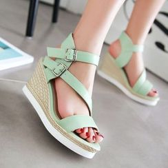 Pastel Pairs - Wedge Sandals