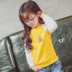 Lemony dudu - Pizza Embroidered Kids Sweatshirt