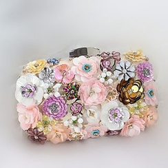 Bling Bag - Floral Sequined Clipframe Clutch
