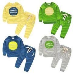 Seashells Kids - Kids Set: Long Sleeved Print Pullover + Drawstring Pants