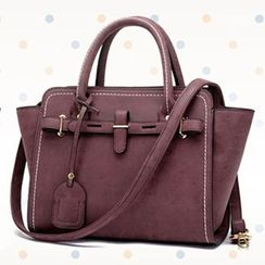 BeiBaoBao - Tag-Accent Belted Satchel