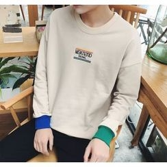 Bestrooy - Letter Embroidered Pullover