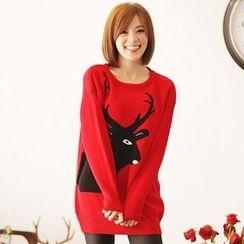 Tokyo Fashion - Color-Block Long Sweater