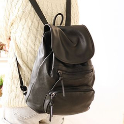 Canvas Love - Faux Leather Backpack
