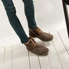 Imagine Men Genuine Leather Chukka Boots