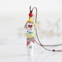 Porcelana - Monkey Whistle Pendant Necklace
