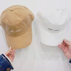 Seoul Homme - Couple Letter Embroidered Baseball Cap