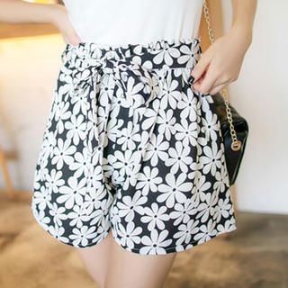 Tokyo Fashion - Paperbag Waist Floral Culottes