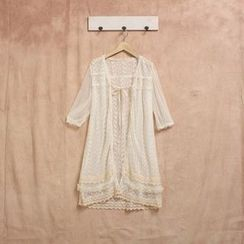 Nectarine - Lace Long Cardigan
