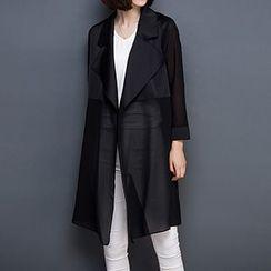Diosa - 3/4-Sleeve Tie Waist Light Jacket
