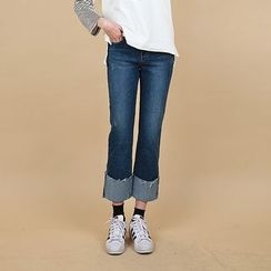 Vintage Vender - Cuff-Hem Boot-Cut Jeans