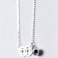 A'ROCH - 925 Sterling Silver Coin Pendant Necklace