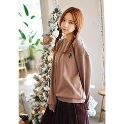 GOROKE - Cactus-Embroider Brushed-Fleece Lined Sweatshirt