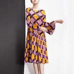 Halona - Long-Sleeve Printed Dress