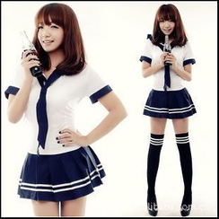 Cosgirl - Sailor Shirt + Mini Dress