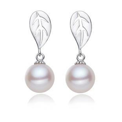 微微珍珠 - 淡水珍珠純銀耳環