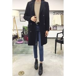 OZNARA - Notched-Lapel Double-Breasted Coat
