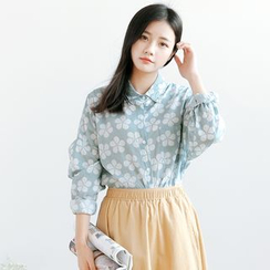Forest Girl - Floral Print Shirt