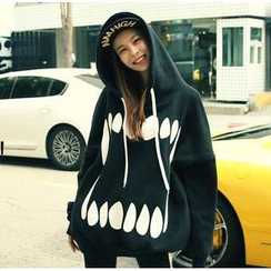 Cloud Nine - Teeth Print Hooded Pullover
