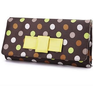 Smoothie - Bow-Accent Polka-Dot Clutch