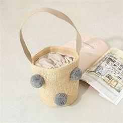 Styleberry - Pompom-Detail Shoulder Bag