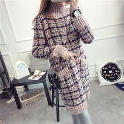 Pecora - 格纹粗针织连衣裙