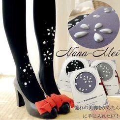 NANA Stockings - Faux Pearl Flower 80 Denier Tights