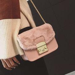Youshine - Furry Panel Crossbody Bag