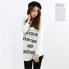 DL jini - Raglan-Sleeve Lettering T-Shirt
