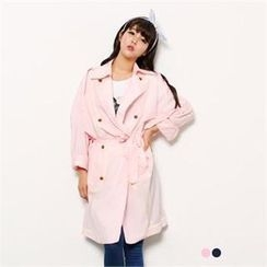 FITTHEM - Piped Double-Breasted Trench Coat
