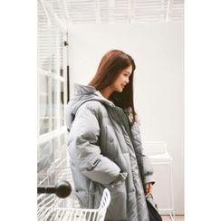 CHERRYKOKO - Hooded Duck-Down Long Puffer Coat