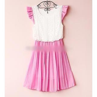 Munai - Lace-Panel Pleated Dress