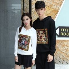 Tabla - Couple Matching Embroidered Hoodie