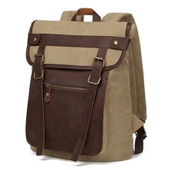 Mr.ace Homme - Faux-Leather-Trim Buckled Backpack