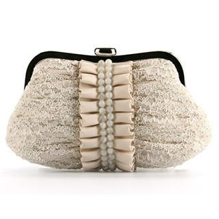 Ethel - Beaded Pleated Clutch