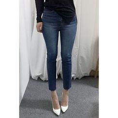 OZNARA - Washed Slim-Fit Jeans