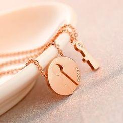LoveGem - Couple Matching Pendant Necklace