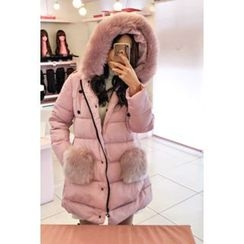 migunstyle - Faux-Fur Padded Jacket