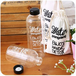 Momoi - Lettering Glass Water Bottle